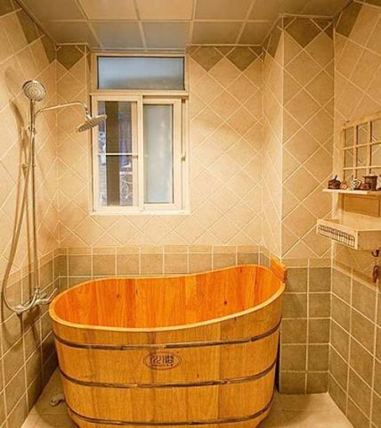 摩登浴室田园装潢图
