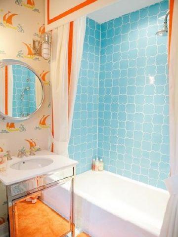 简约浴室背景墙装饰设计