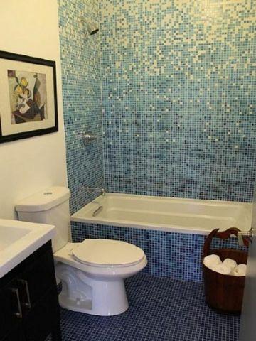 文艺浴室简约装饰实景图片
