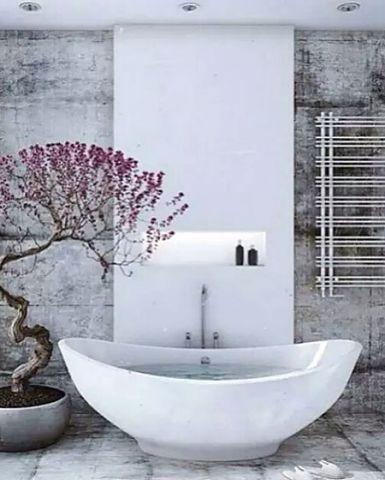 中式浴室背景墙案例图片