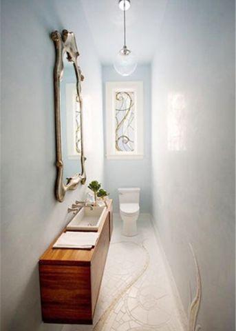 卫生间背景墙简约装修设计