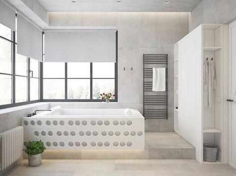 现代浴室浴缸图片