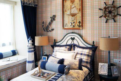 地中海卧室床装饰设计