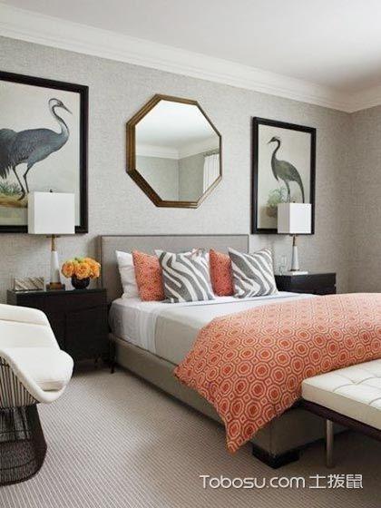 灰色遇上珊瑚色  10款卧室装修效果图