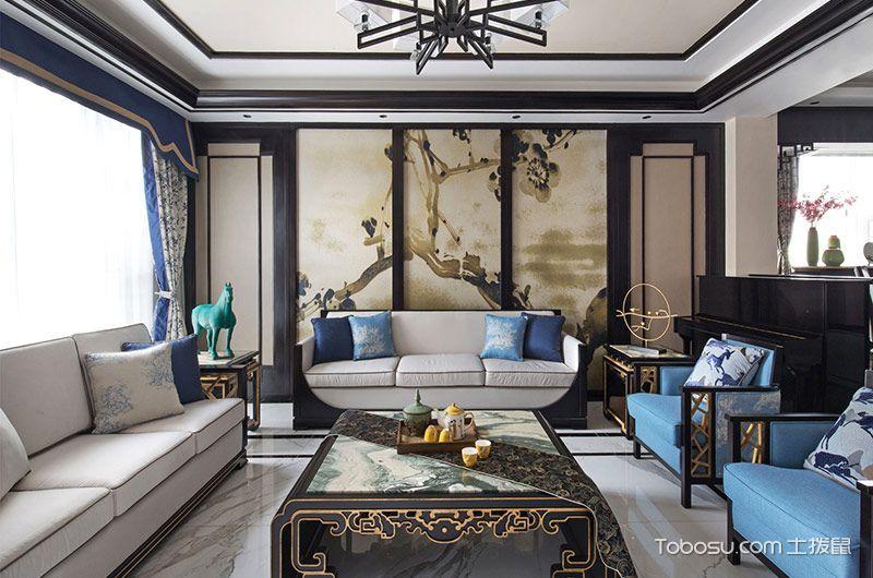 三居室152平米新中式风格装潢设计图片