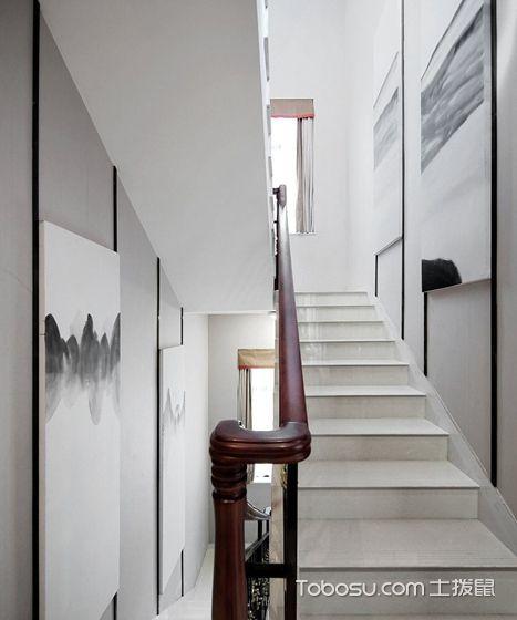 2021新中式玄关图片 2021新中式楼梯装修图