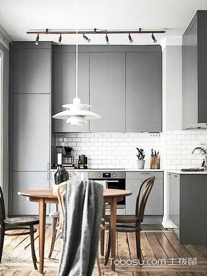 一日三餐   10款冷色系厨房装修效果图
