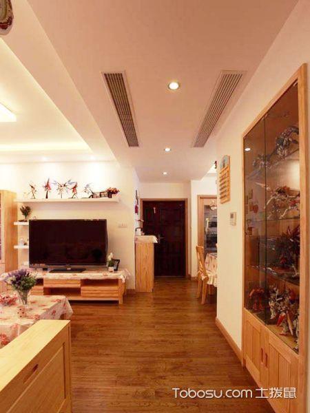 客厅黄色走廊田园风格装潢图片