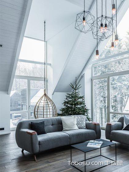 114平米三居室现代风格装修