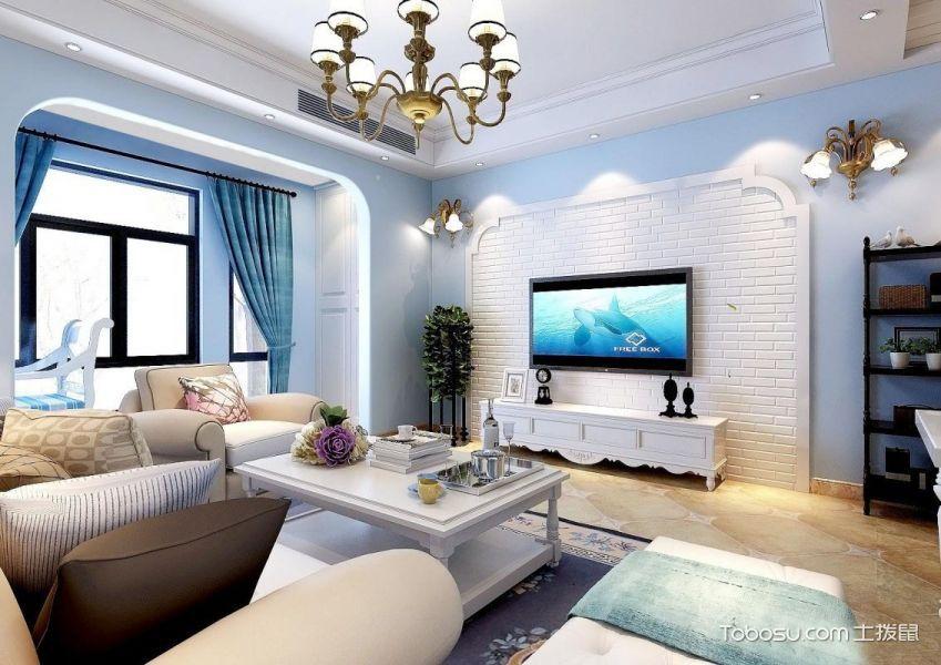 2020地中海90平米装饰设计 2020地中海套房设计图片