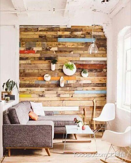 电视墙装修效果图大全 地板上墙照样好看