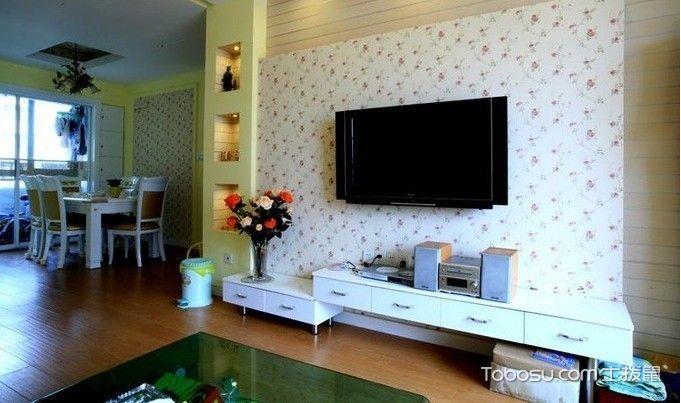清新田园风客厅 电视墙装修效果图大全