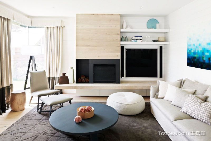 创意电视背墙设计 客厅新方案电视墙装修效果图大全