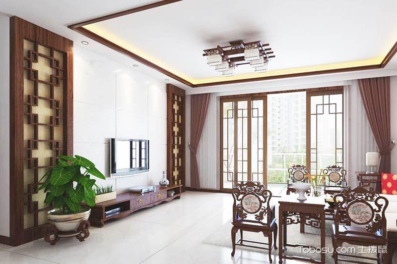 新中式电视墙装修效果图大全 13图大气设计典范