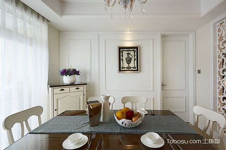 三居室113平米现代欧式风格装修