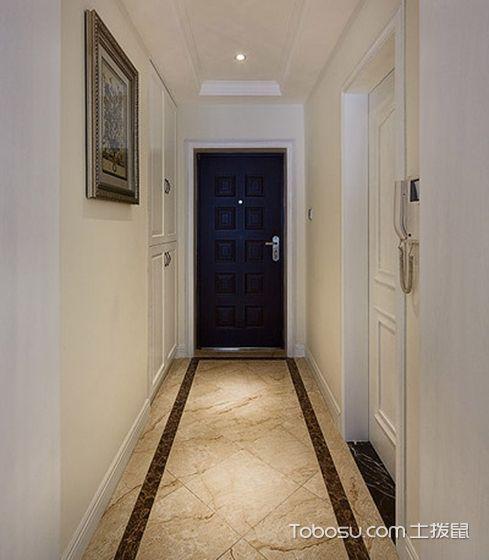 客厅黄色走廊现代欧式风格效果图
