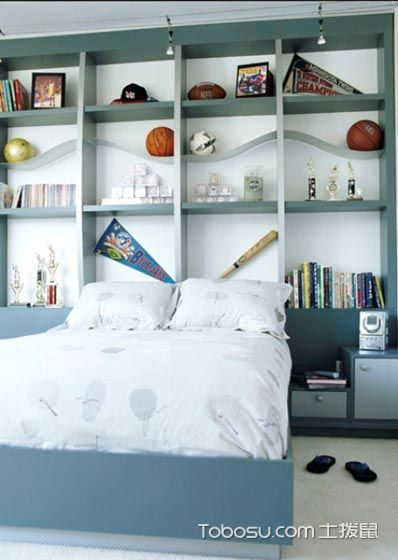 2020韩式卧室装修设计图片 2020韩式书架装修效果图大全