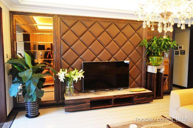 2019混搭客厅装修设计 2019混搭电视背景墙装修设计图片