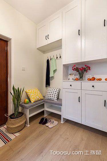 2018现代简约起居室装修设计 2018现代简约门厅装修效果图片