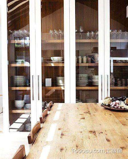 11个餐厅装修墙柜效果图 打造清爽就餐区