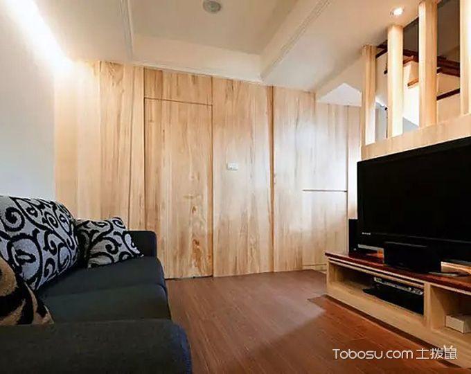客厅隐形门混搭风格装潢效果图