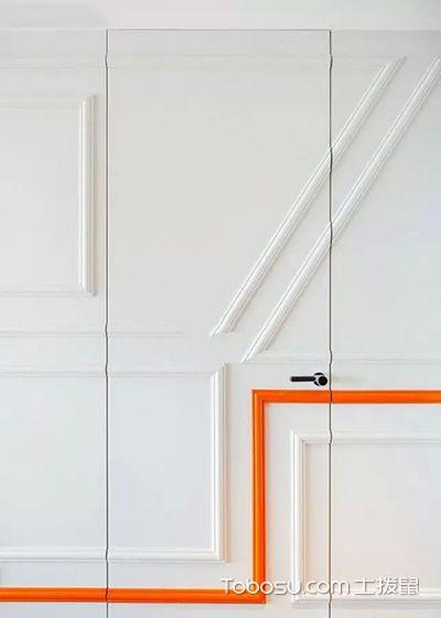 客厅隐形门混搭风格装潢设计图片