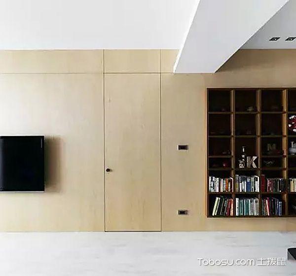 客厅隐形门混搭风格装饰设计图片