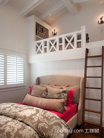 卧室阁楼混搭风格装潢效果图
