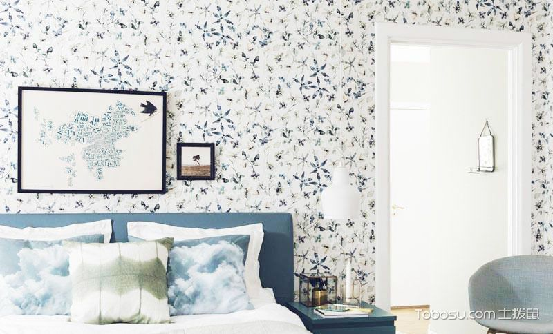 14款卧室背景墙墙纸 卧室空间温馨造