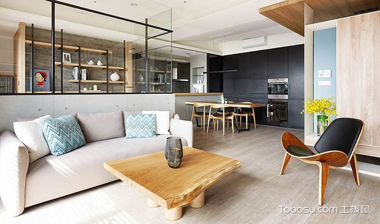客厅沙发现代简约装饰实景图片