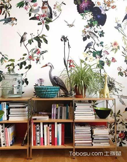 壁布壁纸诠释新美学 12个客厅背景墙装修效果图