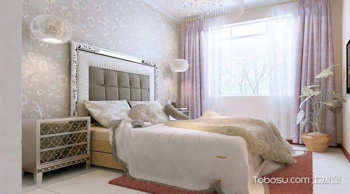 卧室窗帘简欧装饰效果图