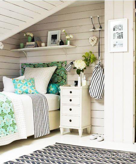 卧室彩色阁楼混搭风格装潢图片