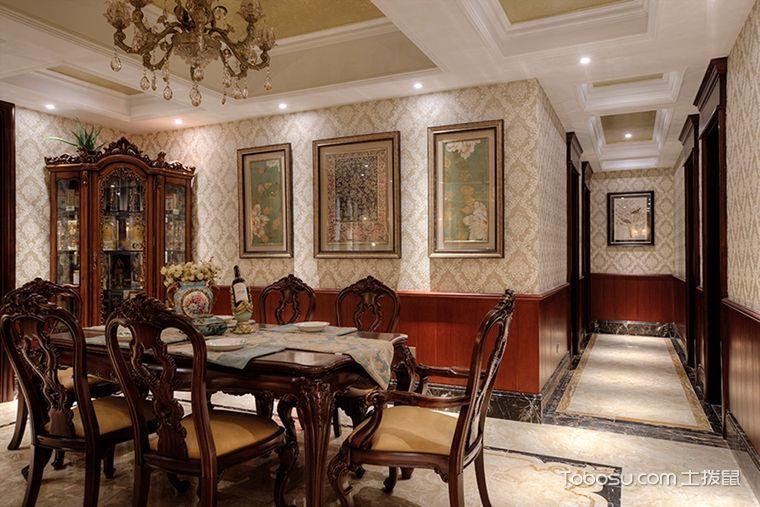 餐厅彩色背景墙现代欧式风格装潢设计图片