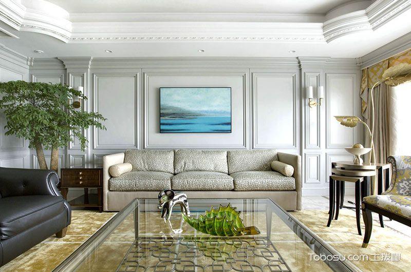 清新客厅背景墙装潢设计图片