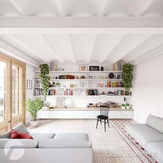 76平米楼房混搭风格室内装修设计
