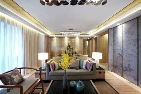 新中式风格套房84平米装饰图片