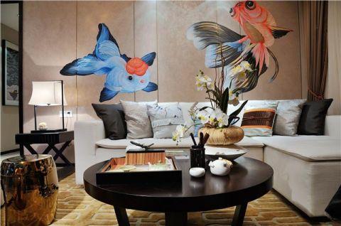 新中式风格三居室116平米装潢图片