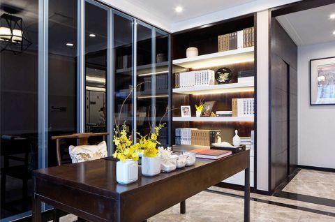 书房书桌新中式设计效果图