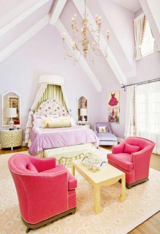 田园卧室沙发装饰图
