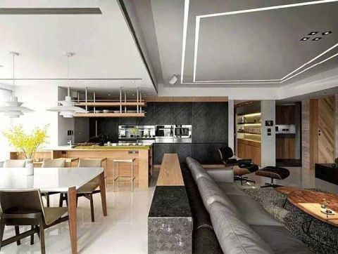 摩登厨房吊顶构造图