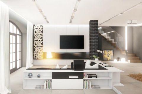 2019现代90平米装饰设计 2019现代三居室u乐娱乐平台设计图片