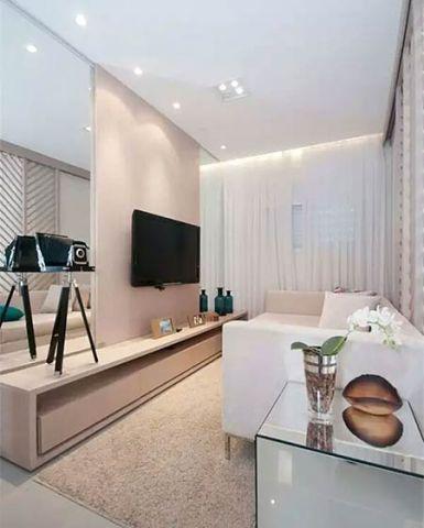 客厅电视背景墙简欧装饰实景图片