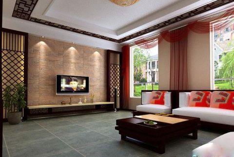 中式风格四居室103平米装修效果图