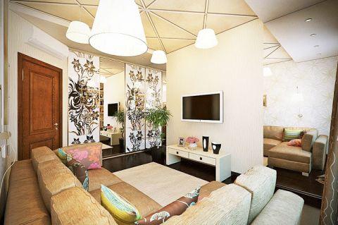 公寓82平米简约风格效果图图片