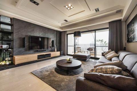 新中式风格大户型130平米装饰实景图