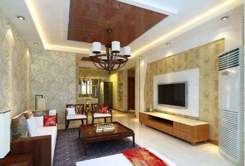三居室105平米新中式风格装潢实景图片