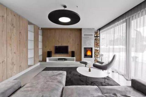 套房104平米现代风格室内效果图