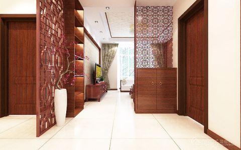 精雕细刻客厅中式装潢图
