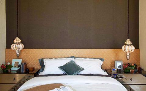 奢华黄色床头柜效果图